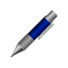 Blue Push Pen