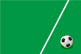 Soccer ball and White line Wallpaper
