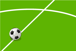 Center circle and Soccer ball Wallpaper