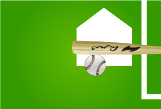 Hits Baseball with Bat Wallpaper