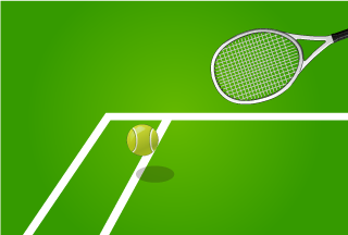 Hit ball with Tennis Racket Wallpaper