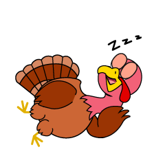 Sleeping Turkey