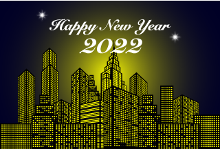 Happy New Year 2021 on Urban