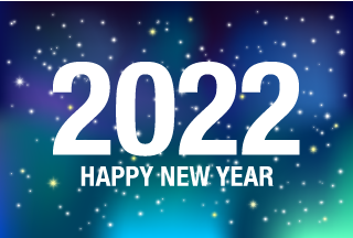 Happy New Year 2021 on Night Sky