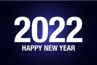 Happy New Year 2021 on Dark
