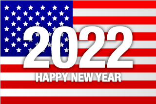 Happy New Year 2021 on American