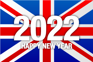 Happy New Year 2021 on United Kingdom