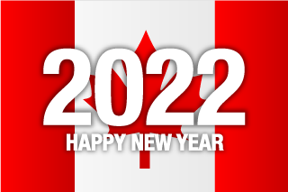 Happy New Year 2021 on Canada