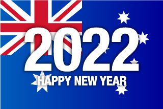 Happy New Year 2021 on Australia