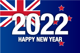 Happy New Year 2021 on New Zealand