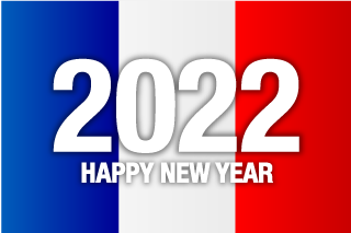 Happy New Year 2021 on France