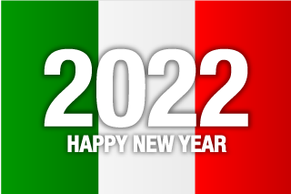 Happy New Year 2021 on Italy