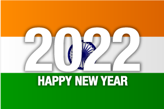 Happy New Year 2021 on India