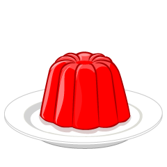 Red Jelly on Plate