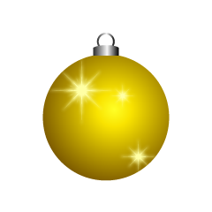 Glittering Gold Christmas Ornament