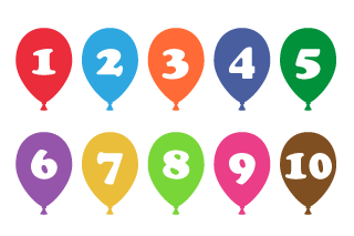 Balloon Number Chart