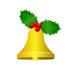 Bell with Holly Leaves