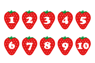 Strawberry Number Chart