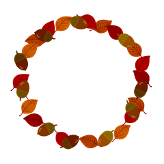Fallen Leaves Wreath