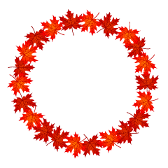 Red Fall Leaves Wreath