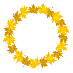 Yellow Fall Leaves Wreath