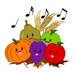 Singing Fruits Thanksgiving