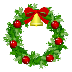 Christmas Wreath with Red Ornament