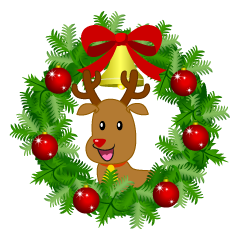 Christmas Wreath with Reindeer
