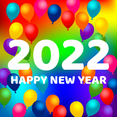 Balloon Happy New Year 2021