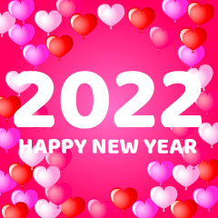 Pink Heart Happy New Year 2021