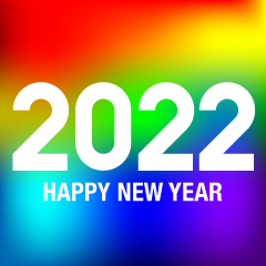 Rainbow Happy New Year 2021
