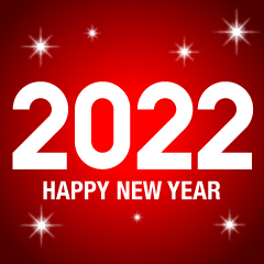 Red Glitter Happy New Year 2021