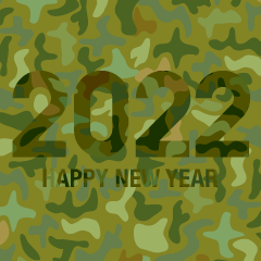 Camouflage Happy New Year 2021
