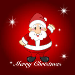 Santa Merry Christmas Greeting