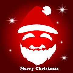 Santa Silhouette Merry Christmas Greeting