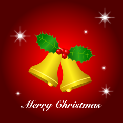 Bell Merry Christmas Greeting