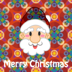 Japanese Pattern Merry Christmas Greeting