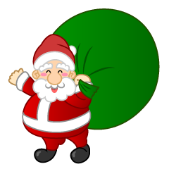 Santa with Big Gift Bag Clipart