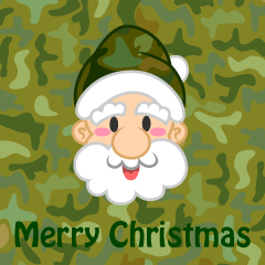 Camouflage Merry Christmas Greeting