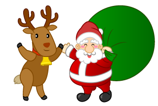 Greeting Santa and Reindeer