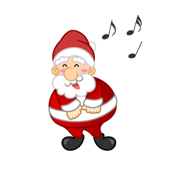 Singing Santa Clipart