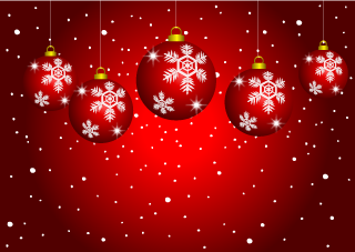 Red Ornament Christmas Wallpaper