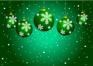 Green Ornament Christmas Wallpaper