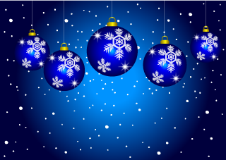 Blue Ornament Christmas Wallpaper