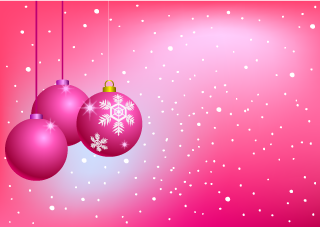 Pink Ornament Christmas Wallpaper