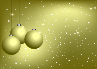 Golden Ornament Christmas Wallpaper