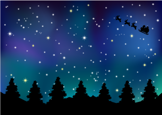 Starry Sky Christmas Wallpaper