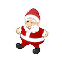Walking Santa Clipart