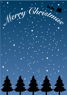 Tree Silhouette Christmas Background