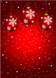 Red Ornament Christmas Background
